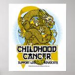 Dragón del cáncer de la niñez poster