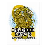 Dragón del cáncer de la niñez tarjeta postal