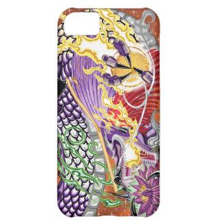Dragón del caso del iPhone 5 de Lotus Carcasa Para iPhone 5C