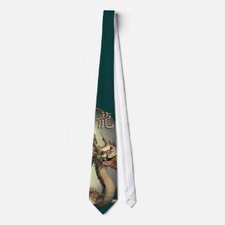 Dragón del chino del vintage corbatas