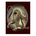 Dragón del chino del vintage postales