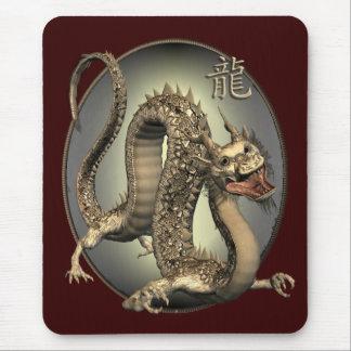 Dragón del chino del vintage tapetes de ratón