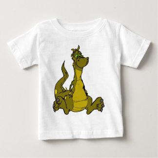 dragón del dibujo animado playera de bebé