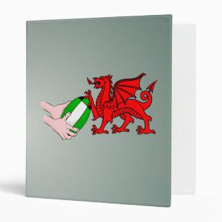 """Dragón del equipo del rugbi de País de Gales con Carpeta 1"""""""