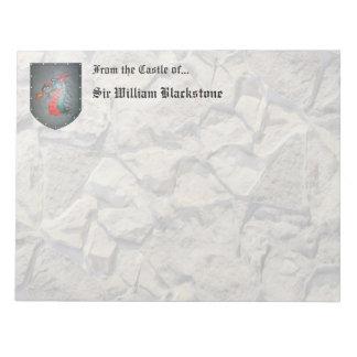 Dragón del escudo del metal blocs