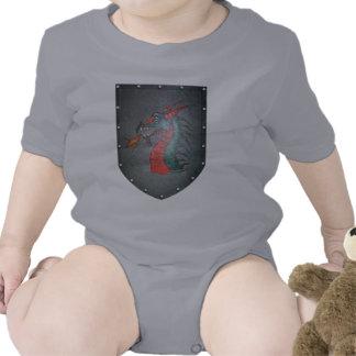 Dragón del escudo del metal traje de bebé