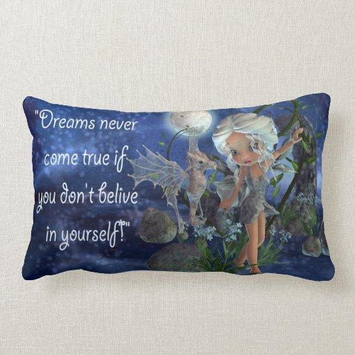 Dragón del Faerie y almohada ideales de los niños Cojín Lumbar