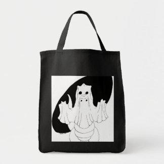 Dragón del fantasma bolsas lienzo