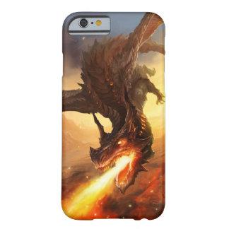 Dragón del fuego funda de iPhone 6 barely there