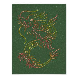 """Dragón del fuego invitación 4.25"""" x 5.5"""""""