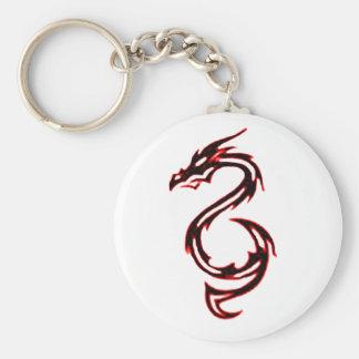 Dragón del fuego llavero redondo tipo pin