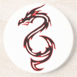 Dragón del fuego posavasos diseño