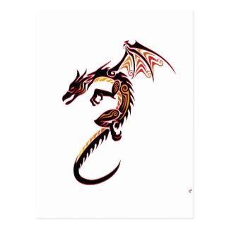 Dragón del fuego postal
