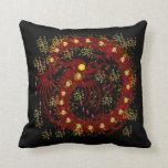 Dragón del fuego rojo almohadas