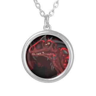 Dragón del fuego (versión oscura) colgante redondo