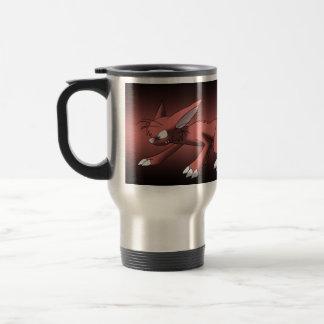 Dragón del gato taza térmica