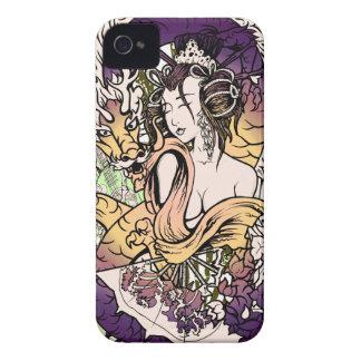 Dragón del geisha de Japón Funda Para iPhone 4 De Case-Mate