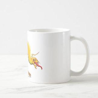 Dragón del gusano taza de café