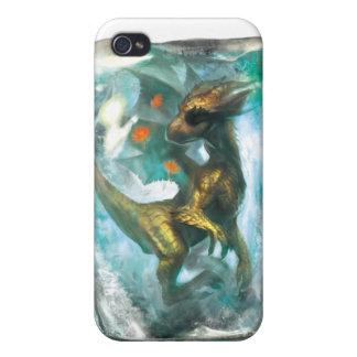 Dragón del hielo para iphone4 iPhone 4 cárcasas