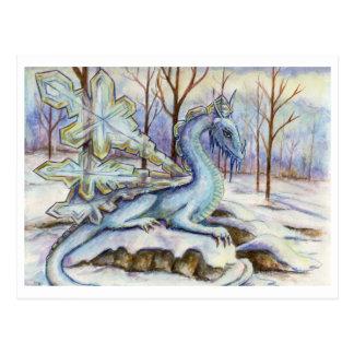 Dragón del hielo - postal