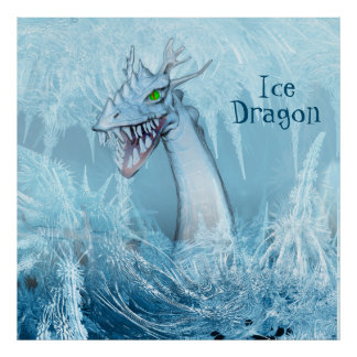 Dragón del hielo póster