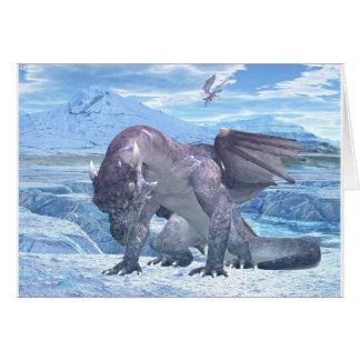 Dragón del hielo tarjeta de felicitación