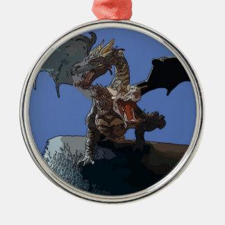 Dragón del Hydra Adorno Navideño Redondo De Metal