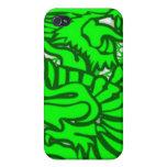 Dragón del jade iPhone 4/4S carcasa
