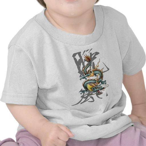 Dragón del japonés de Fuku-Riu Camisetas