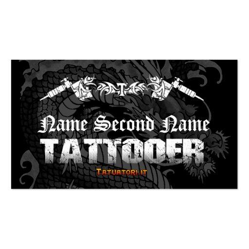 Dragón del japonés de Tattooer Tarjetas De Visita