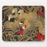 Dragón del japonés del vintage alfombrillas de raton