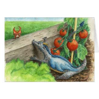 Dragón del jardín tarjetón