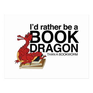 Dragón del libro postales
