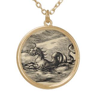 Dragón del mar en el ecuador colgante redondo