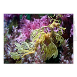 Dragón del mar tarjeta de felicitación