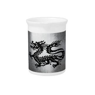 Dragón del metal del vintage jarrones