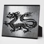 Dragón del metal del vintage placas para mostrar