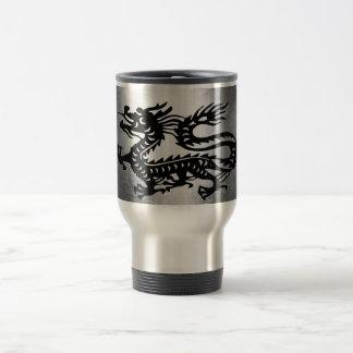 Dragón del metal del vintage taza térmica