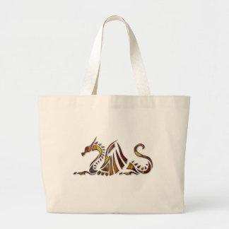 Dragón del moho bolsa de tela grande