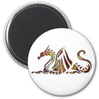 Dragón del moho imán redondo 5 cm