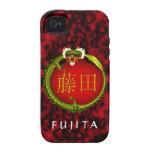 Dragón del monograma de Fujita Vibe iPhone 4 Fundas