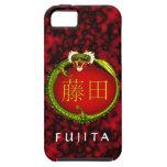 Dragón del monograma de Fujita iPhone 5 Case-Mate Cobertura