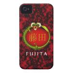 Dragón del monograma de Fujita iPhone 4 Protector