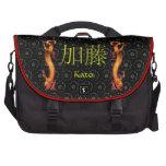 Dragón del monograma de Kato Bolsas Para Portatil