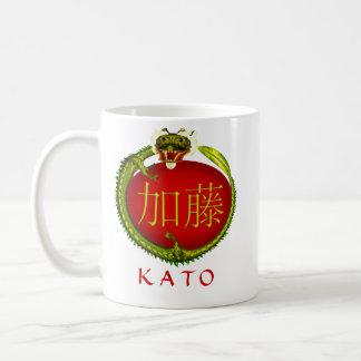 Dragón del monograma de Kato Taza Básica Blanca