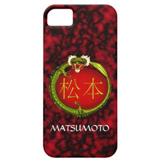 Dragón del monograma de Matsumoto Funda Para iPhone 5 Barely There