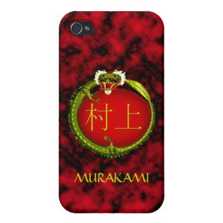 Dragón del monograma de Murakami iPhone 4 Fundas