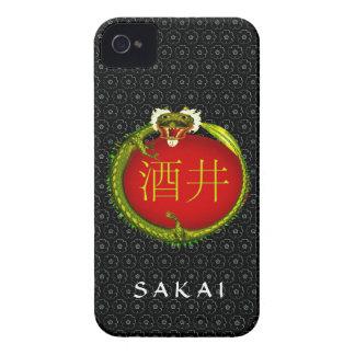Dragón del monograma de Sakai Case-Mate iPhone 4 Carcasa