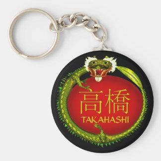 Dragón del monograma de Takahashi Llavero Personalizado