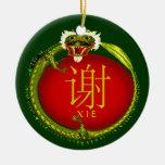 Dragón del monograma de Xie Ornamentos Para Reyes Magos